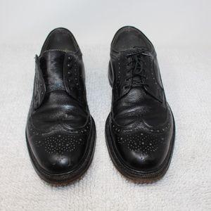 NETTLETON BLACK LEATHER WINGTIP Shoes Size 12